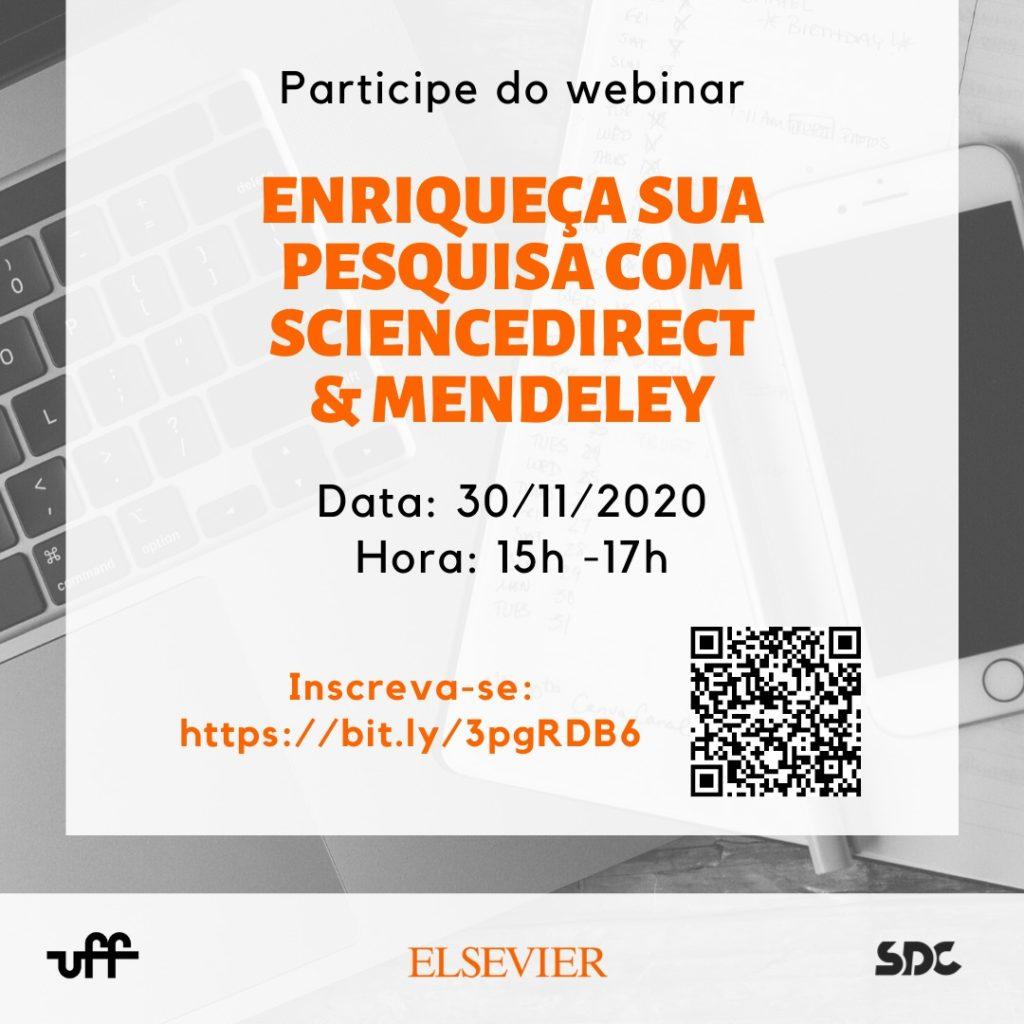 Webinar Enriqueça sua pesquisa com ScienceDirect & Mendeley